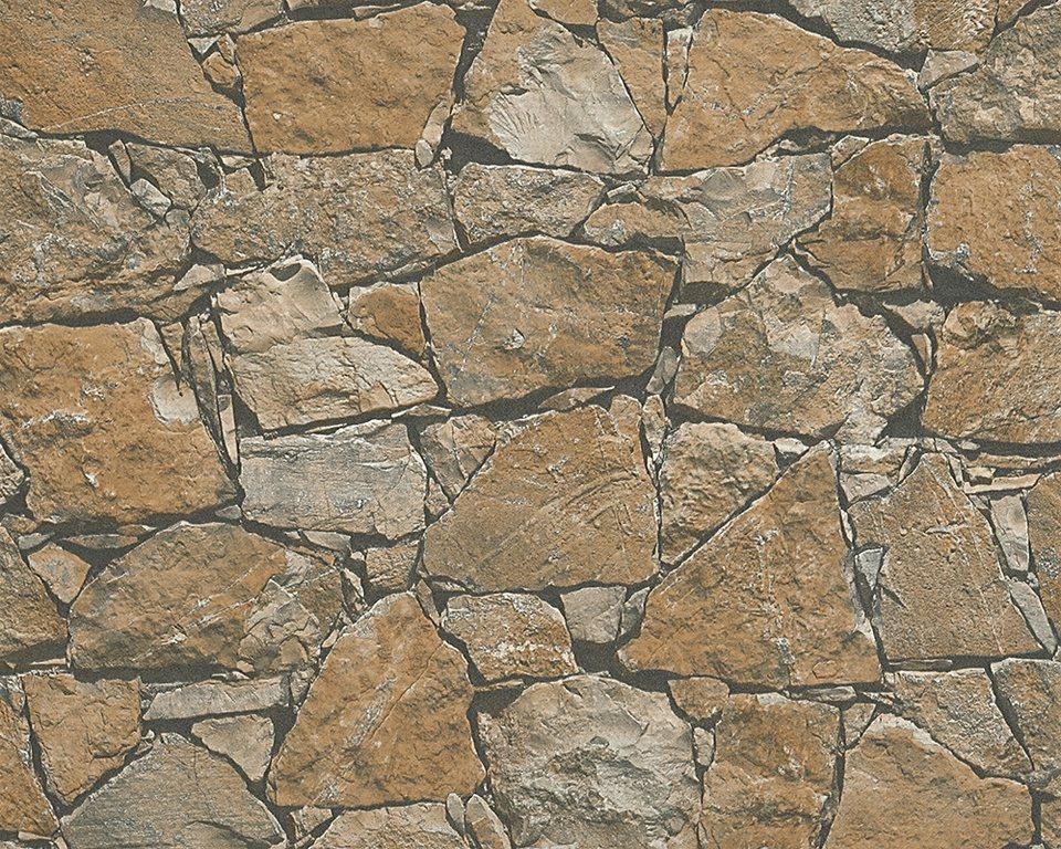 Vliestapete livingwalls dekora natur in for Tapete natursteinoptik