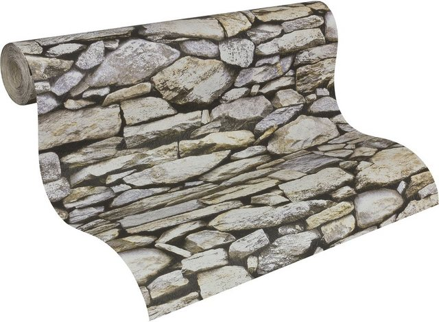 Livingwalls Papiertapete, Dekora Natur, in Natursteinoptik, braun