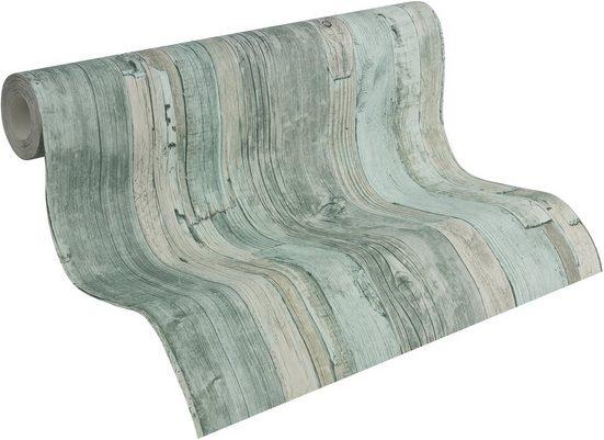 Vliestapete »Decoworld in Vintage-Holzoptik«, gemustert, FSC®