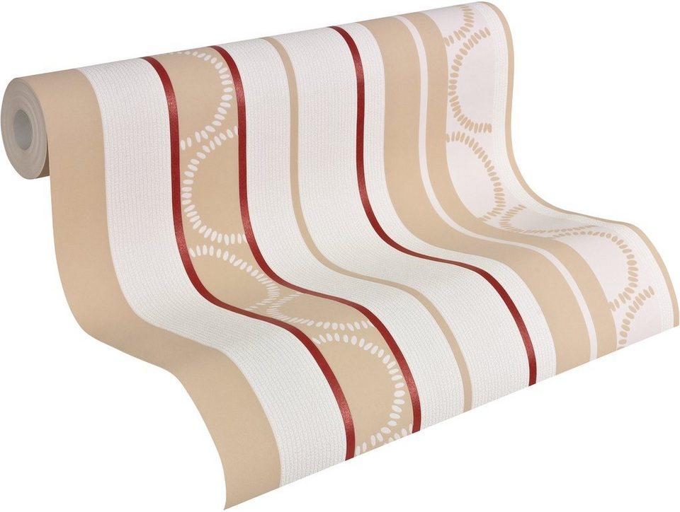 vliestapete livingwalls streifentapete hula hoop online kaufen otto. Black Bedroom Furniture Sets. Home Design Ideas