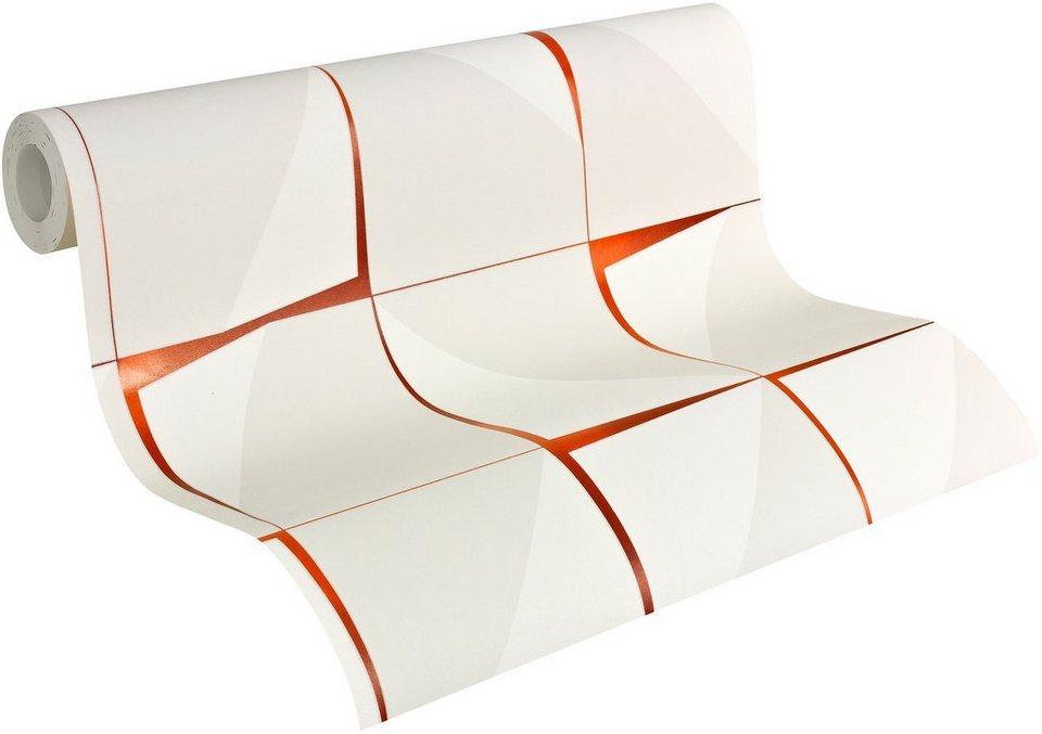 vliestapete livingwalls mustertapete aisslinger. Black Bedroom Furniture Sets. Home Design Ideas