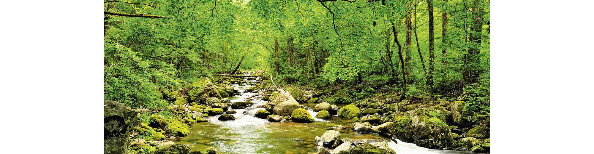 Glasbild, Home affaire, »tupikov: Herbstwald, Fluß Smolny«, 125/50 cm
