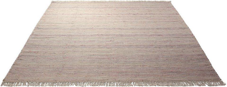 Teppich, Esprit, »Misty«, handgewebt, Wolle in orange-multi