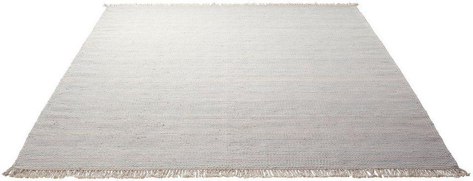 Teppich, Esprit, »Misty«, handgewebt, Wolle in grün-multi