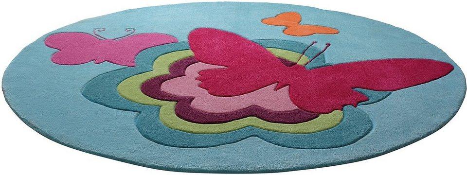 kinderteppich butterflies esprit rund h he 10 mm online kaufen otto. Black Bedroom Furniture Sets. Home Design Ideas