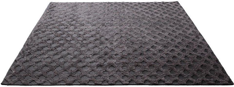 Teppich, Esprit, »Cyclone«, handgewebt, Wolle in anthrazit