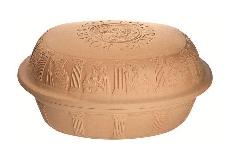 Römertopf® aus Ton, Inhalt 7 kg für 8 Personen, »Maxi« in braun