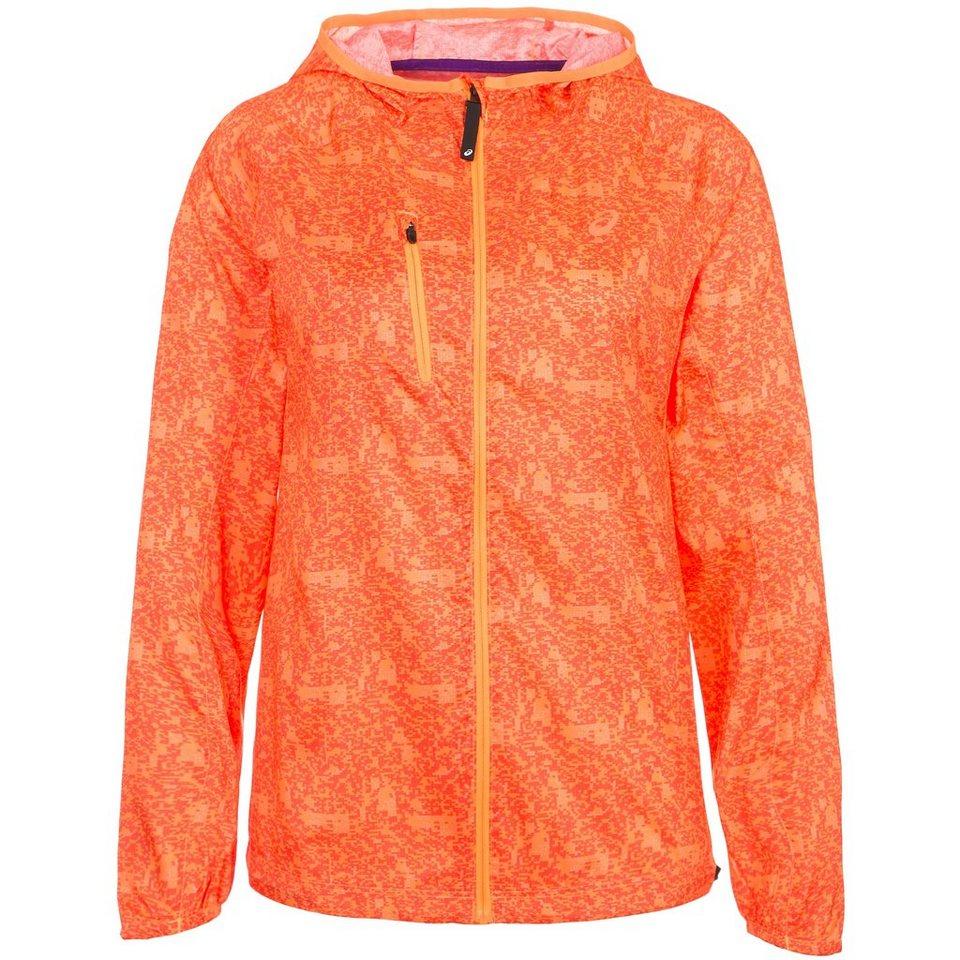 ASICS Fujitrail Packable Laufjacke Damen in orange