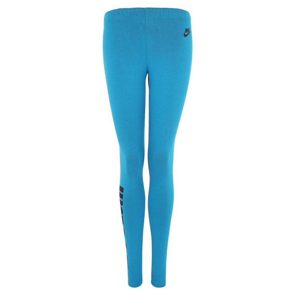 Nike Sportswear Leg-a-See Logo Just Do It Legging Damen in blau / schwarz