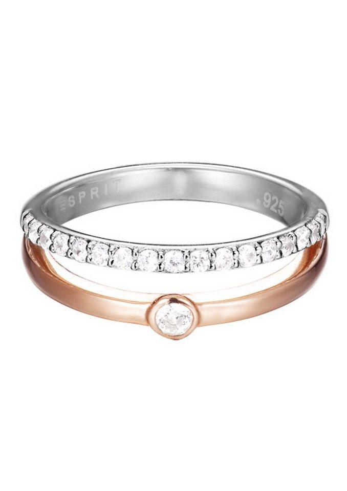 """ESPRIT Ring """"ESPRIT-JW50096 Rose, ESRG92491A"""" in Silber 925/bicolor"""