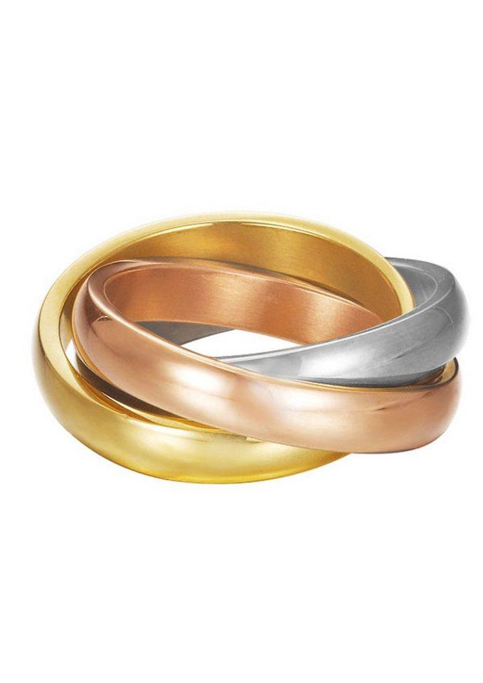 "ESPRIT Ring ""ESPRIT-JW50139 Tricolor, ESRG12477A"" in tricolor"