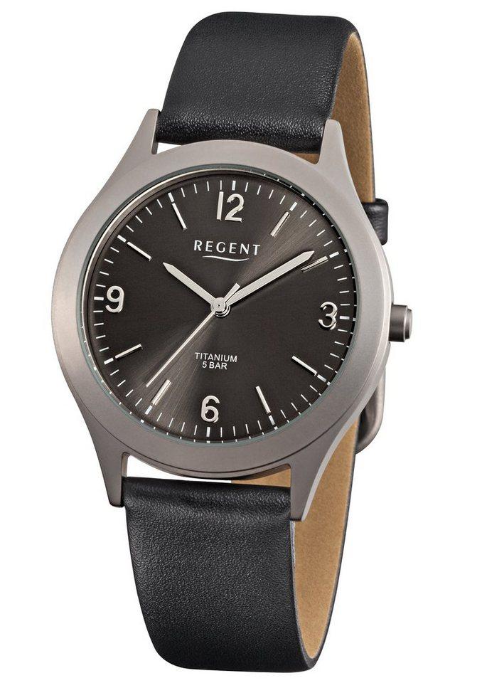 "Regent, Armbanduhr, ""11190151 - F843"" in schwarz"