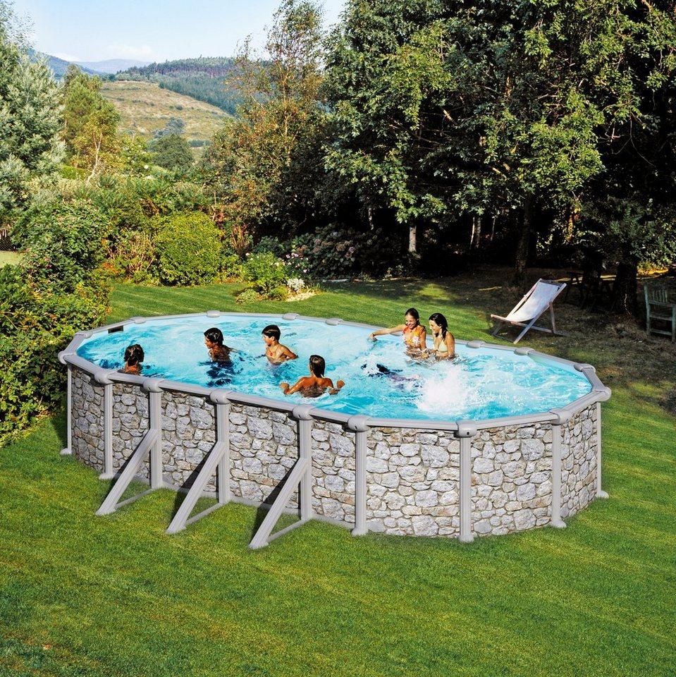 summer fun ovalpool stein optik 120 cm h he otto. Black Bedroom Furniture Sets. Home Design Ideas