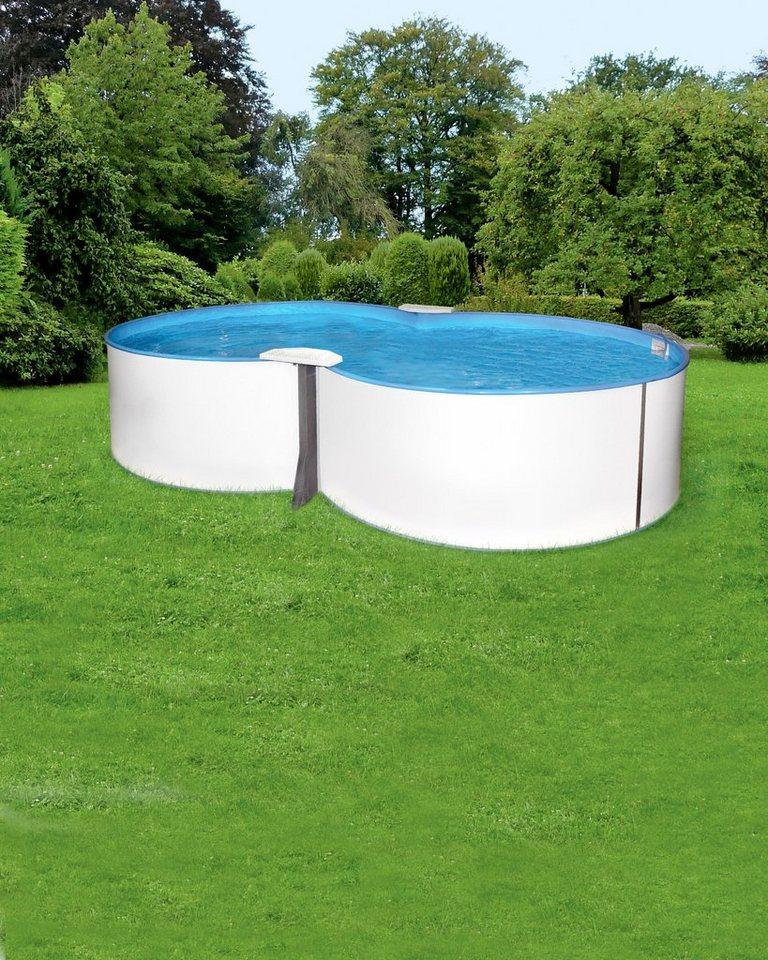 Mypool achtformpool premium acht 135 cm tiefe inkl for Garten pool tiefe