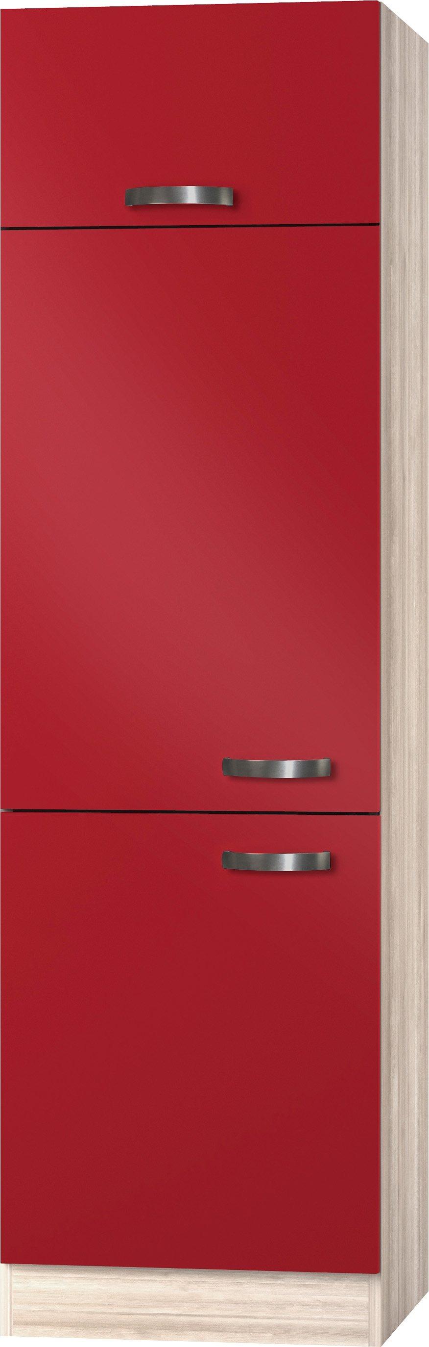 Kühlumbauschrank, OPTIFIT, »Faro« | Küche und Esszimmer > Küchenschränke > Umbauschränke | Weiss - Rot - Weiß | Akazie - Melamin | OPTIFIT