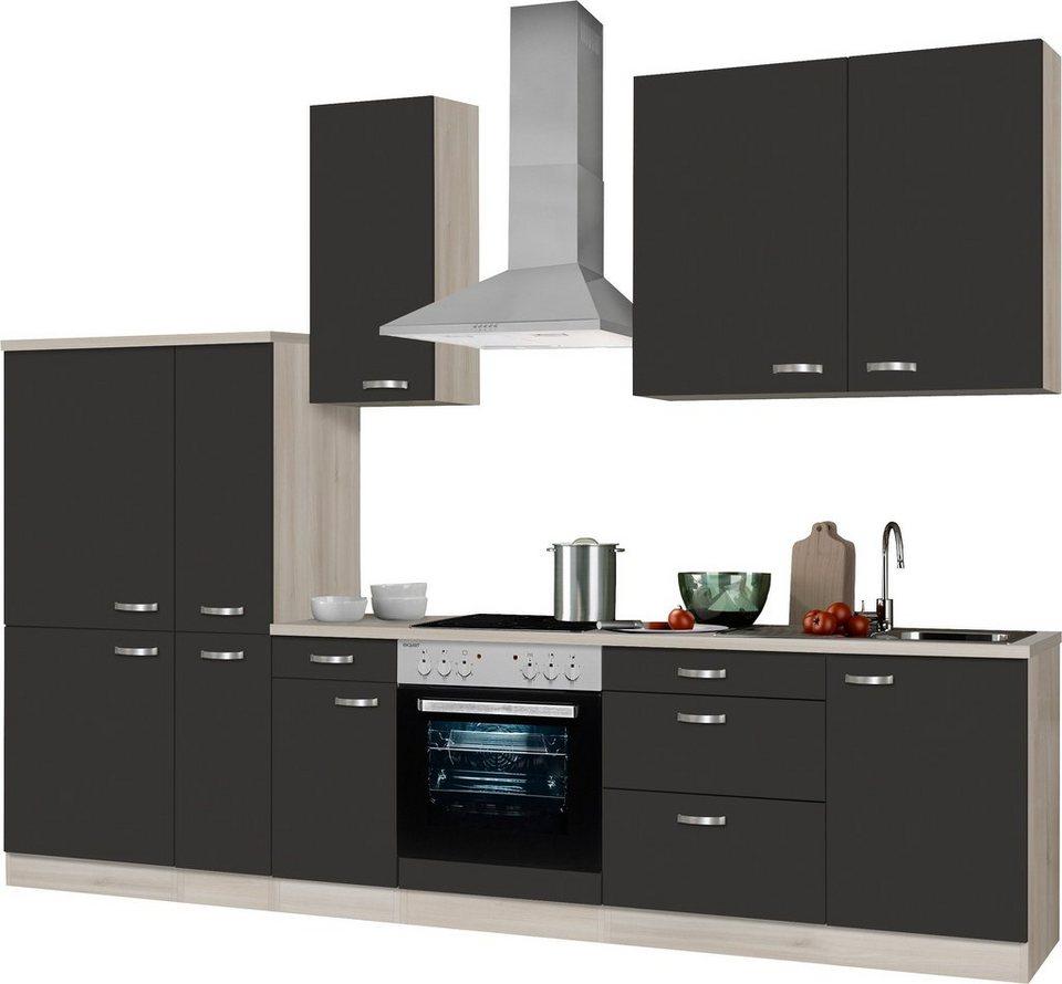 Küchenzeile ohne E Geräte, OPTIFIT, Faro , Breite 300 cm