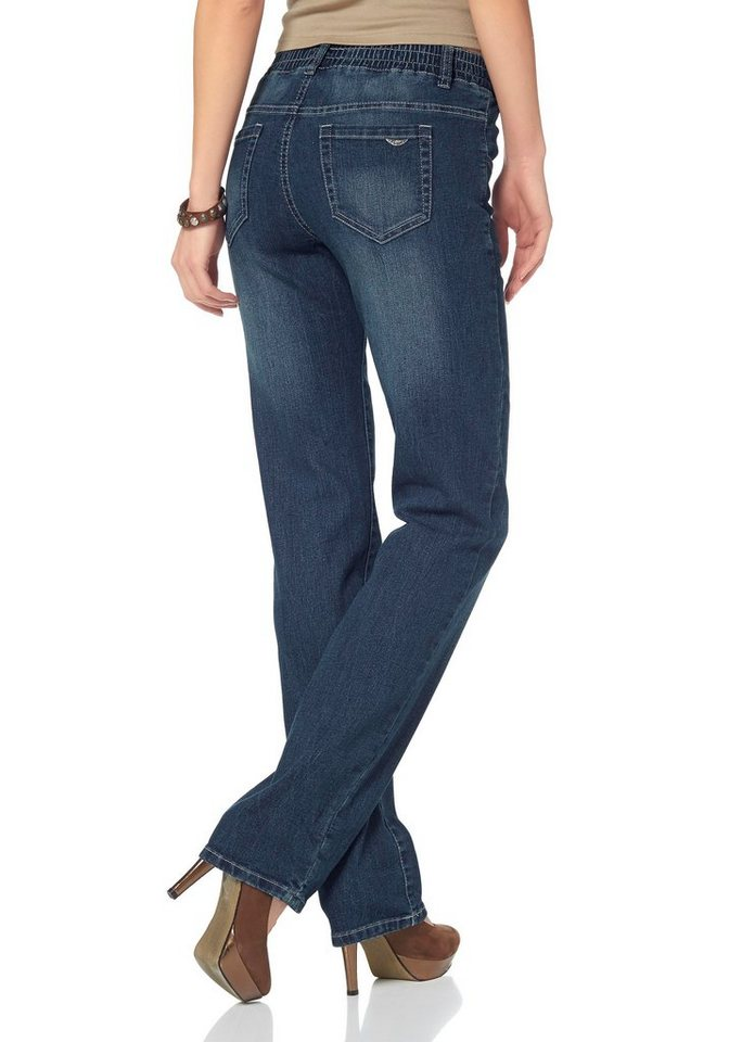 Arizona Schlupfjeans in blue-used