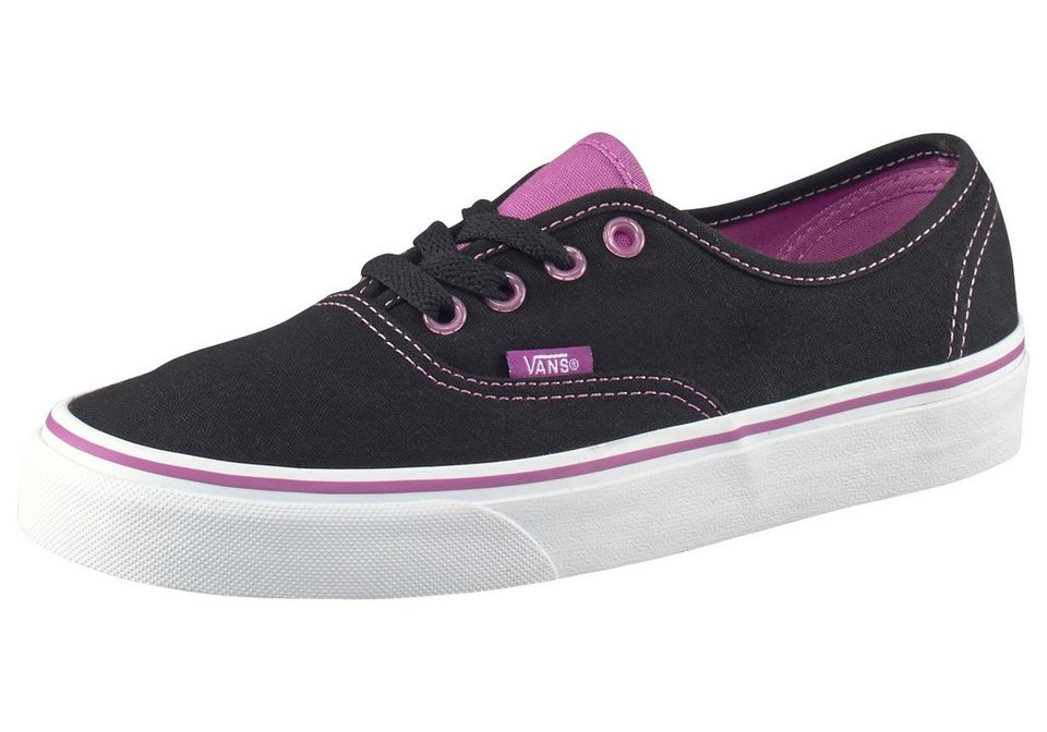 Vans Authentic Sneaker in Schwarz-Flieder