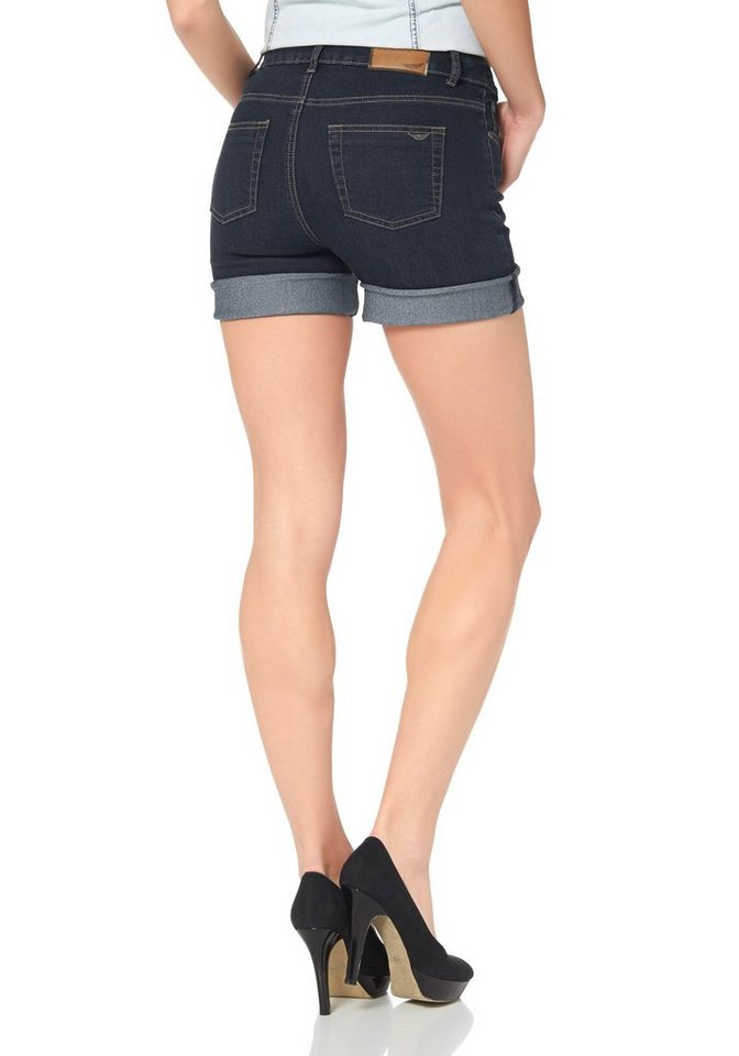 Arizona High-waist-Jeans »Jeansshorts« in rinsed