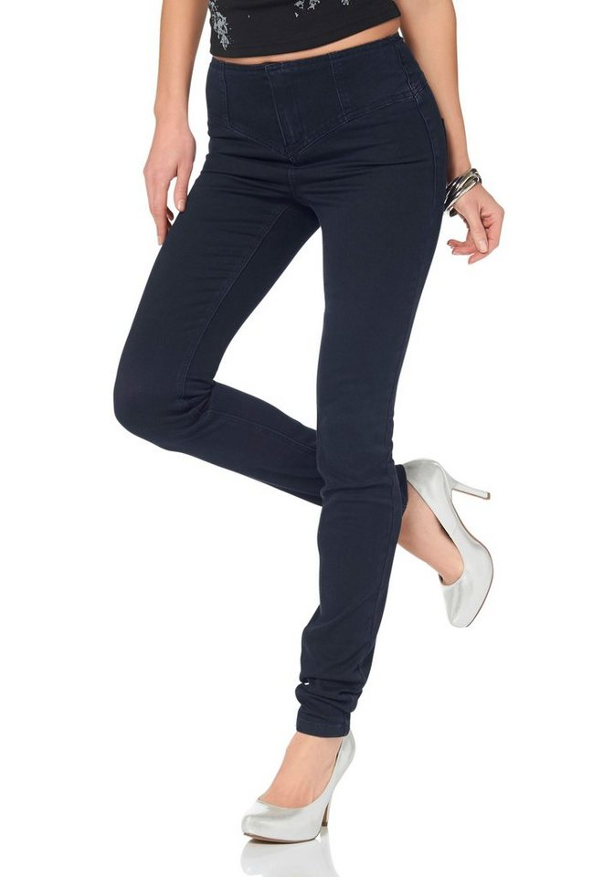 Arizona Skinny-fit-Jeans »Shaping« High Waist Power-Stretch in rinsed