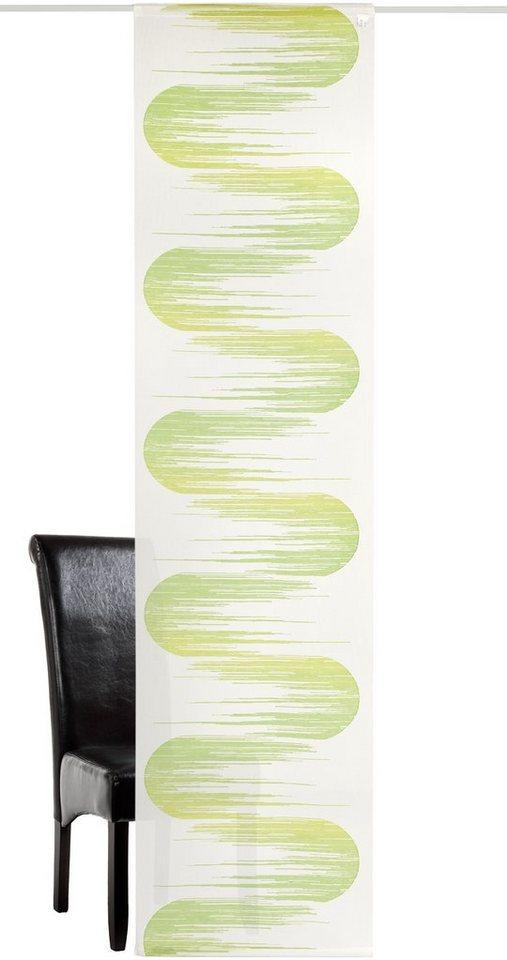 Schiebegardine, Deko Trends, »Jago« (1 Stück mit Zubehör) H/B: 245cm/60cm in wollweiss/grün