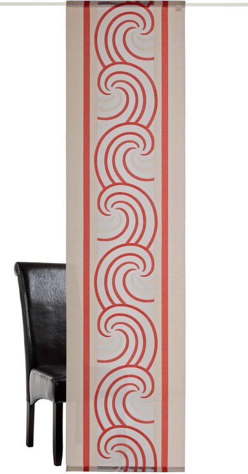 Schiebegardine, Deko trends, »Voltura«, mit Klettband (1 Stück mit Zubehör) in taupe/rot
