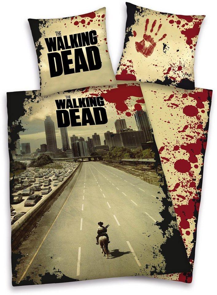Wendebettwäsche »The Walking Dead«, mit Schriftzug in multi