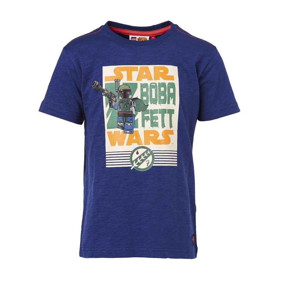 "LEGO Wear STAR WARS(TM) Kurzarm-T-Shirt Timmy ""Boba Fett"" Shirt in dunkelblau"