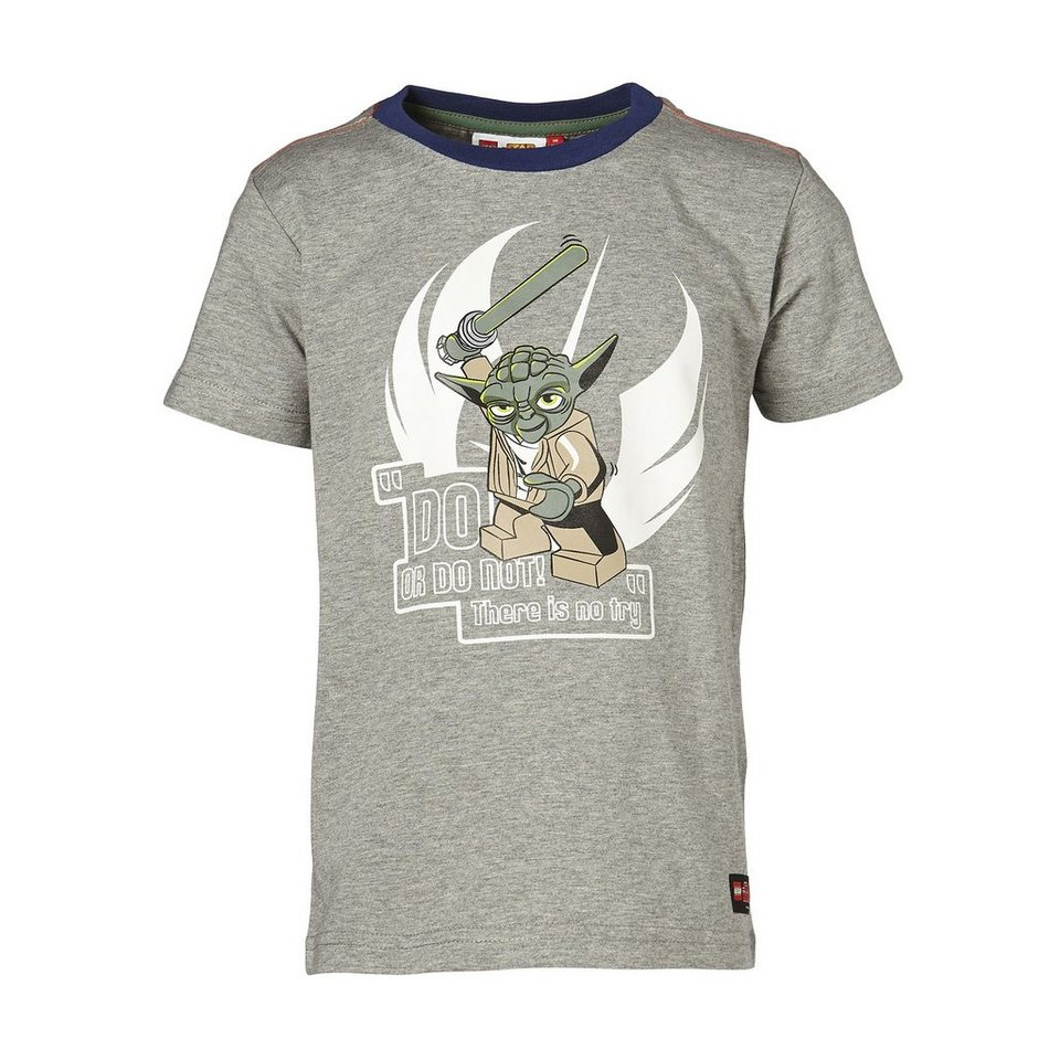"LEGO Wear STAR WARS(TM) Kurzarm-T-Shirt Timmy ""Do or do not"" Shirt in grau"
