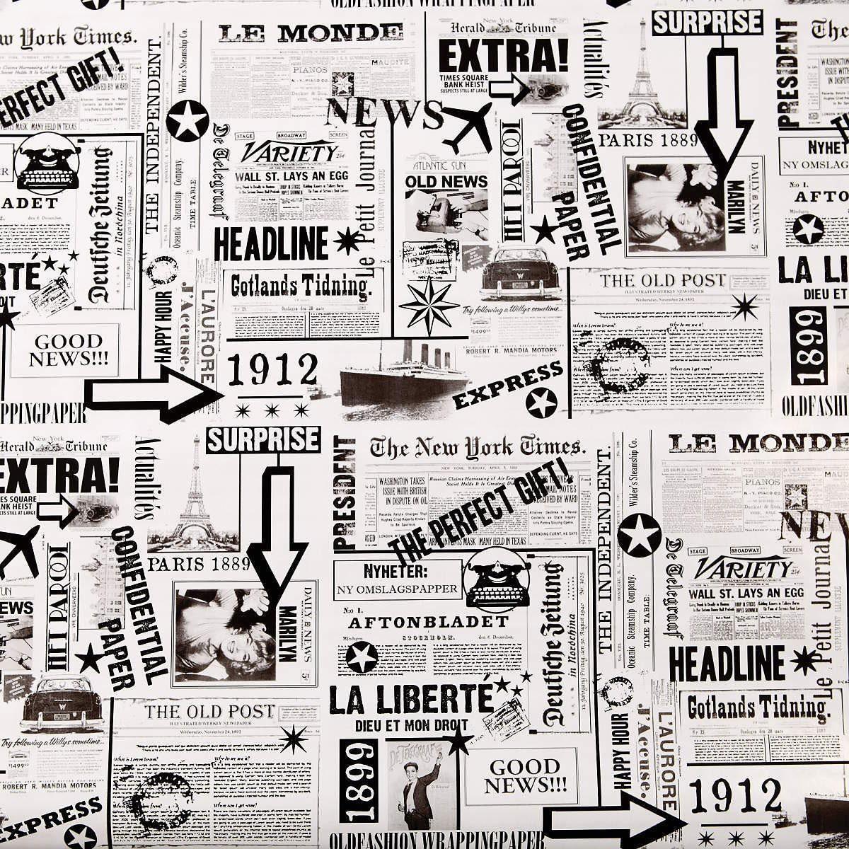 BUTLERS SURPRISE »Geschenkpapier Zeitung«