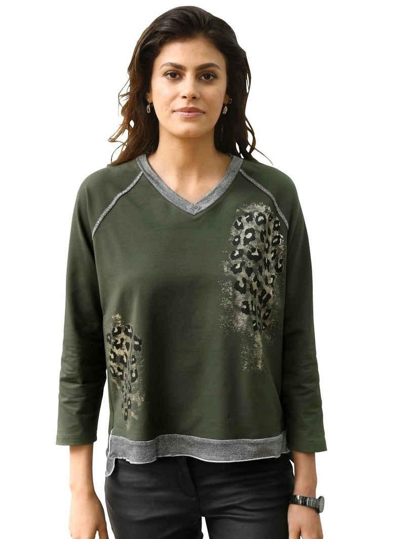 Amy Vermont V-Shirt im Animal-Dessin