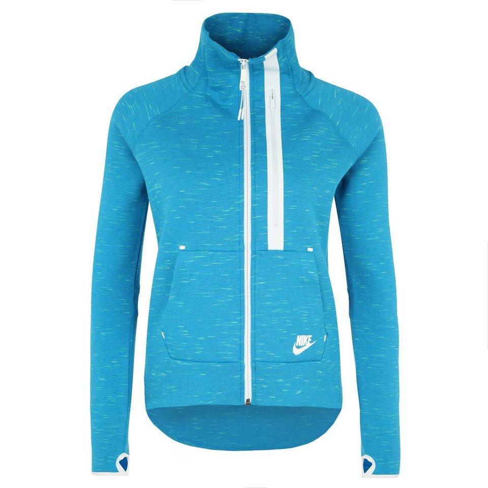 Nike Sportswear Tech Fleece Moto Freizeitjacke Damen in blau / weiß