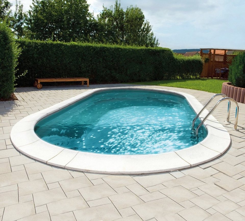 Mypool set ovalpool premium grau 6 tlg otto for Garten pool hagebau