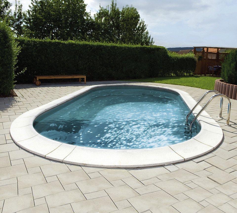 Ovalpool »Premium sandfarben« inkl. Bodenschutzvlies in weiß