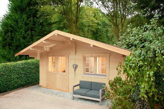 WOLFF FINNHAUS Gartenhaus »Lappland 70-A«, BxT: 550x610 cm, inkl. Fußboden