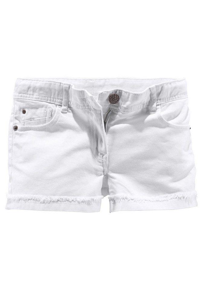 CFL Shorts mit Beinaufschlag in weiß