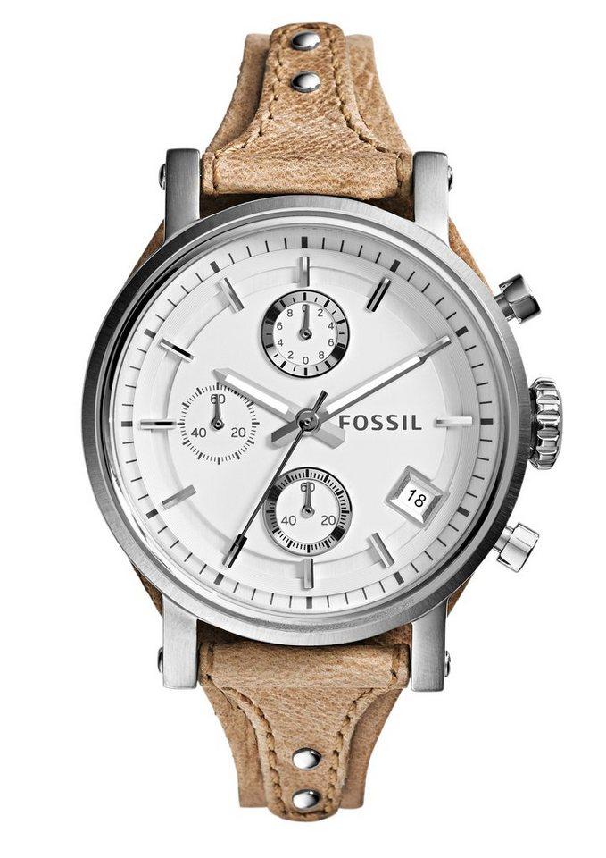 Fossil Chronograph »ORIGINAL BOYFRIEND, ES3625« in hellbraun