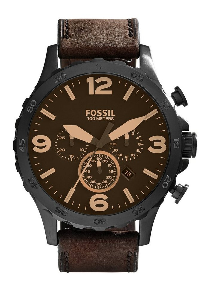 Fossil Chronograph »NATE, JR1487« in braun