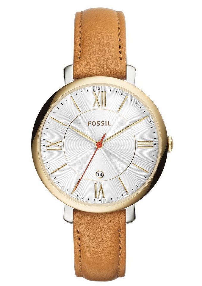 "Fossil, Armbanduhr, ""JACQUELINE, ES3737"" in braun"