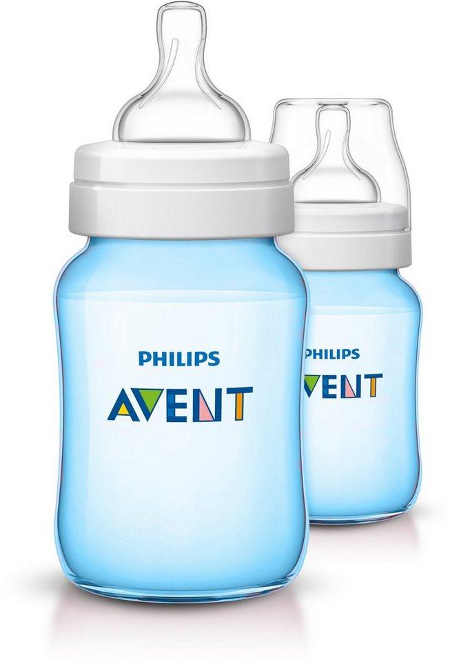 Philips Avent Babyfläschchen SCF565/27 KlassikPlus Flasche, 260ml, 2erPack, blau in blau