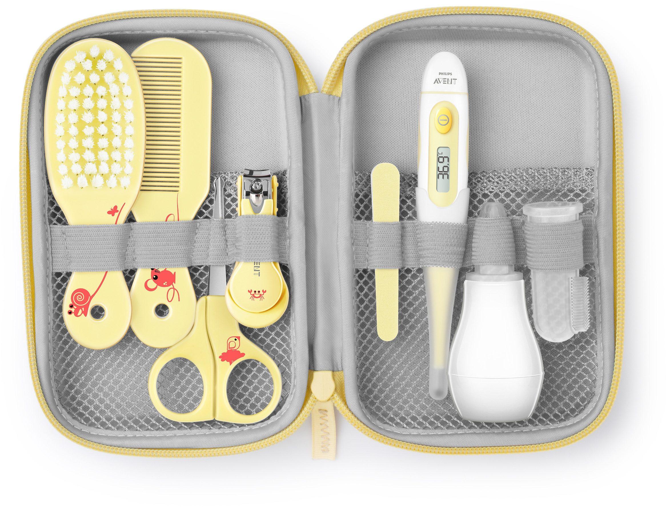 Philips Avent Babypflege-Set SCH400/00 inkl. aller Pflegeartikel, gelb/blau
