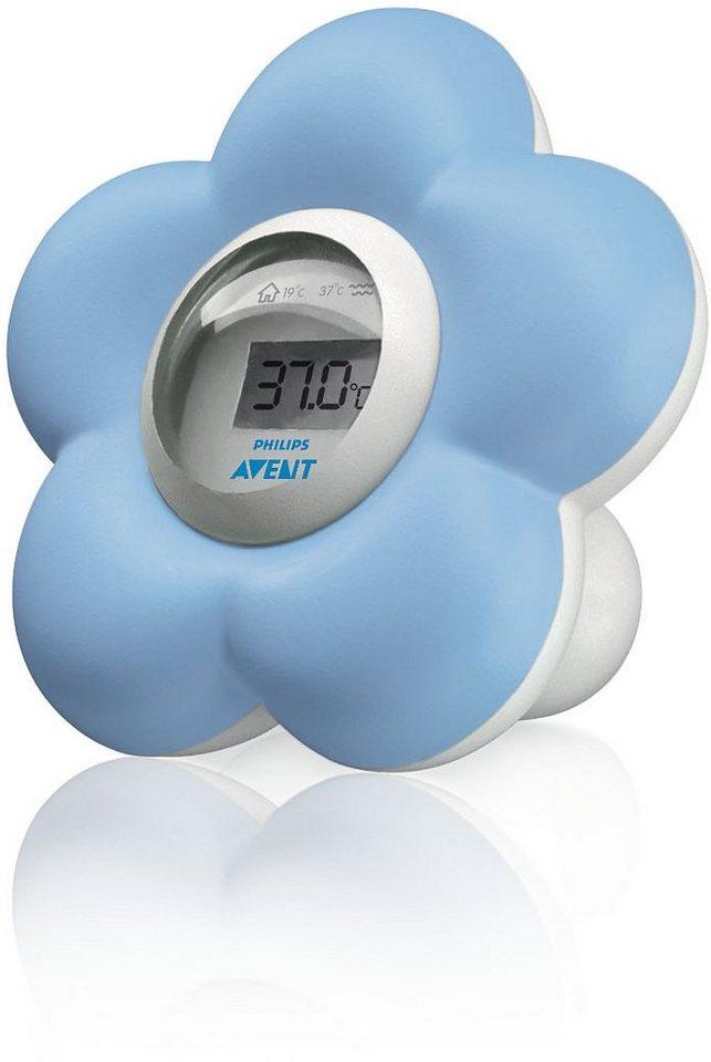 Philips Avent Baby Bad- und Raumthermometer SCH550/20, hellblau/weiß in hellblau/weiß