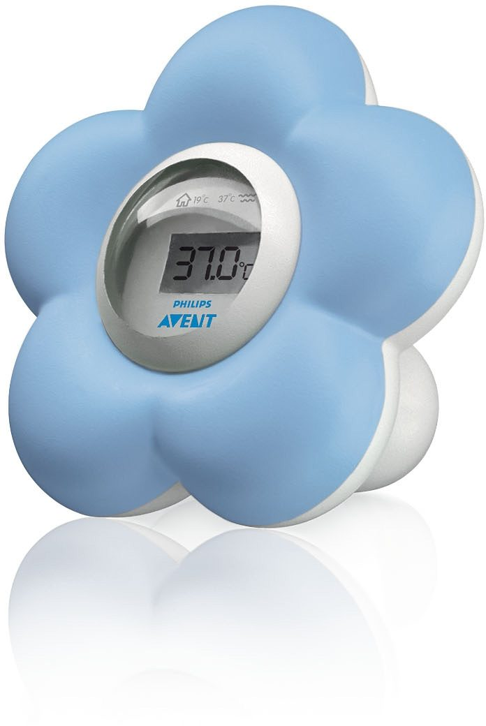 Philips Avent Baby Bad- und Raumthermometer SCH550/20, hellblau/weiß