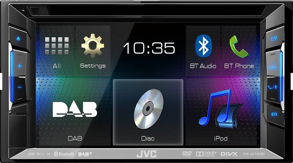 JVC 2-DIN Multimedia Receiver »KW-V215DBTE« in schwarz