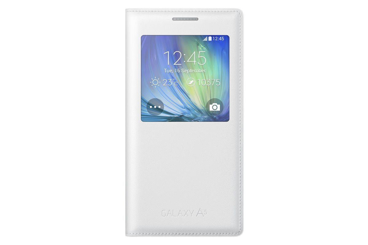 Samsung Handytasche »S-View Cover EF-CA500 für Galaxy A5, Weiß«