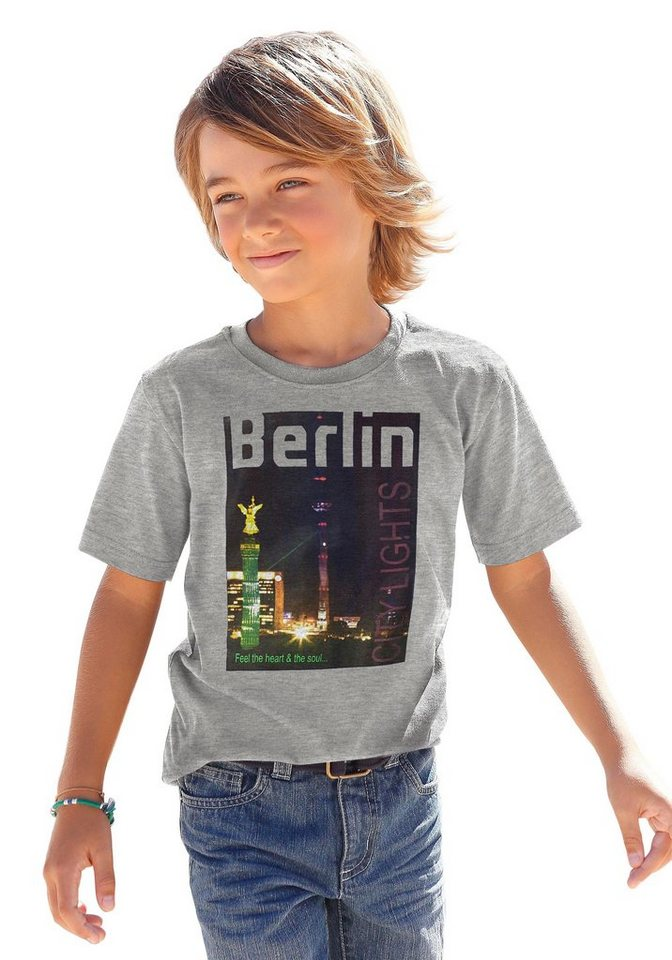 "CFL T-Shirt ""Berlin"" in grau-meliert"
