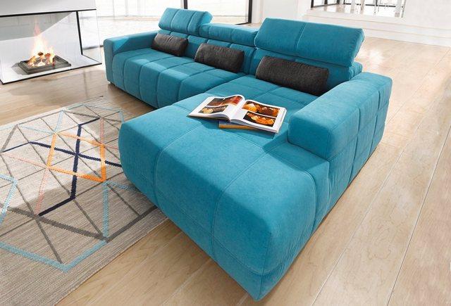 DOMO collection Ecksofa, wahlweise mit Sitztiefenverstellung | Wohnzimmer > Sofas & Couches > Ecksofas & Eckcouches | DOMO collection