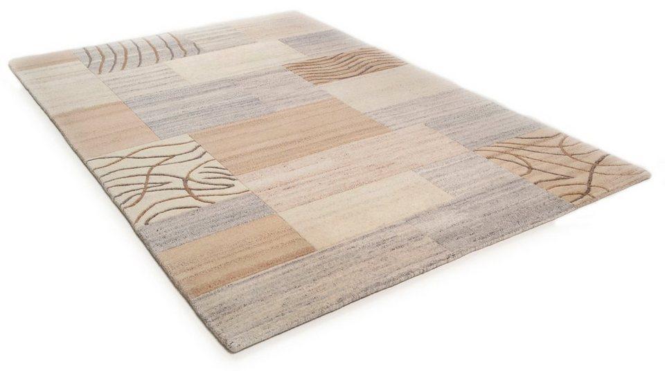 Teppich, Theko Harmony, »Nakarta 2«, handgeknüpft, Wolle in beige