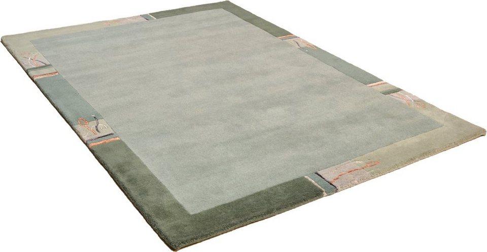 Teppich, Theko Harmony, »Tiara Super«, handgeknüpft, Wolle in grün