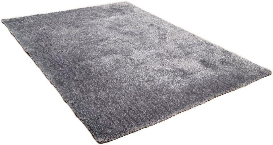 Hochflor-Teppich »Vido«, Theko, rechteckig, Höhe 32 mm in grau